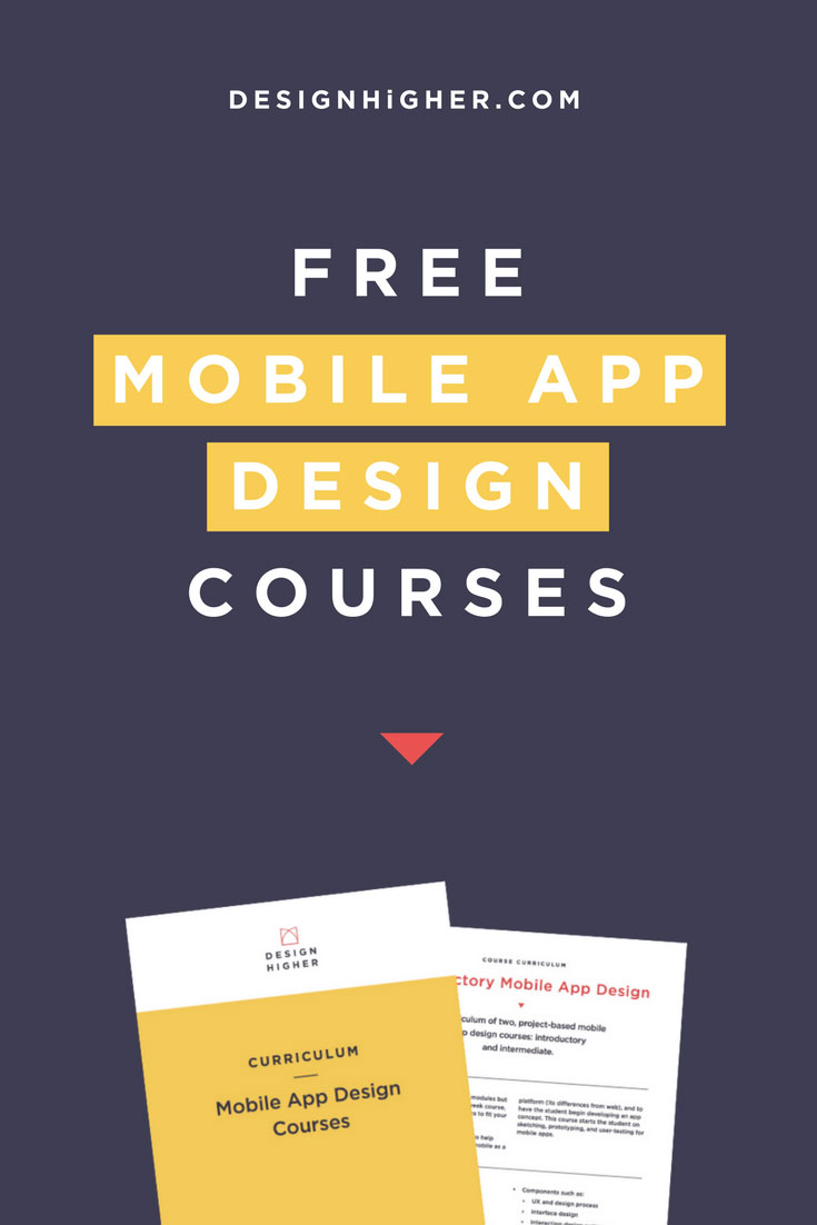 Free mobile app design courses. Free download!